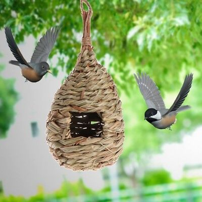 Outdoor Birds Nest Natural Grass Egg Cage Decorative Weaved Hanging Parrot House