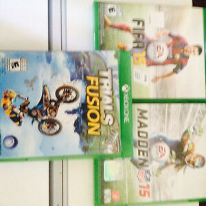 3 game Xbox one lot FIFA,madden,trials fusion