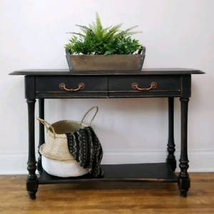 Coal Black Console/Hall Table