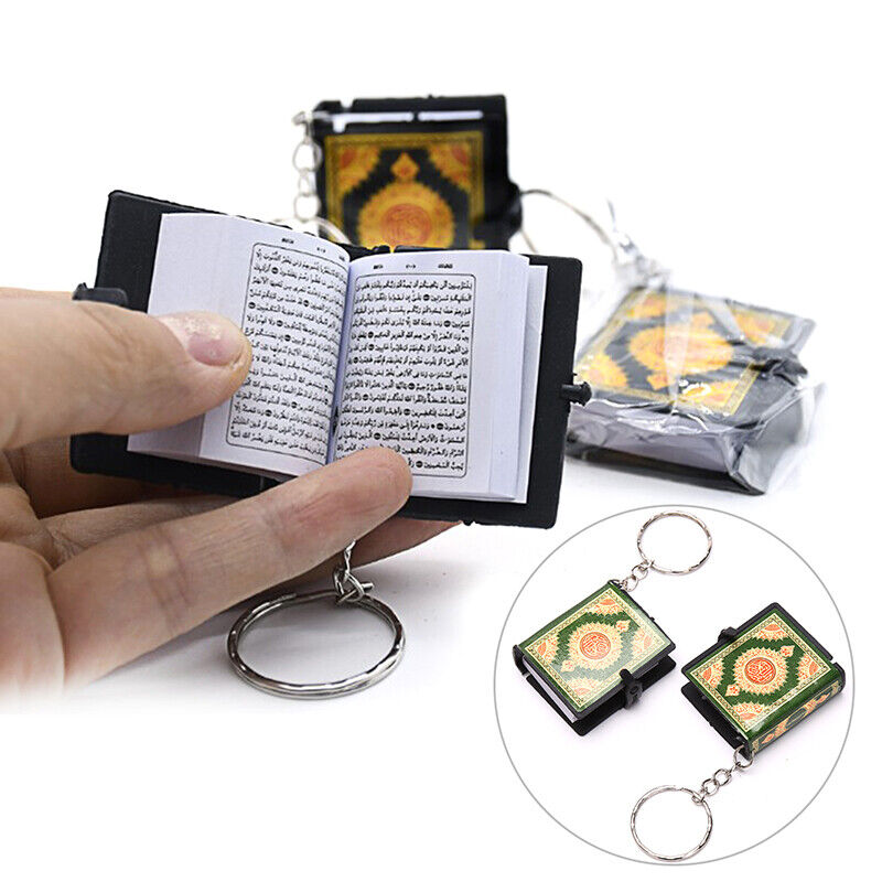 Mini Ark Quran Book The Koran Keychain Muslim Jewelry Deco Gift Key PendanSL