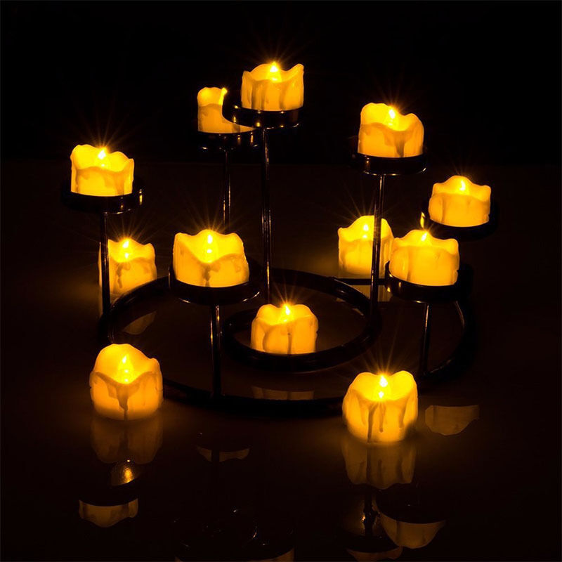 1Pcs Flameless Tea Lights Yellow Flicker Battery Candles LED Electric Candles