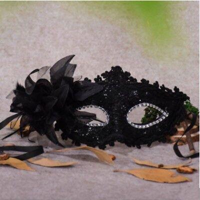 Lace Venezianische Maske Maskerade Karneval Party Ball Kostüm Schwarz #NG8