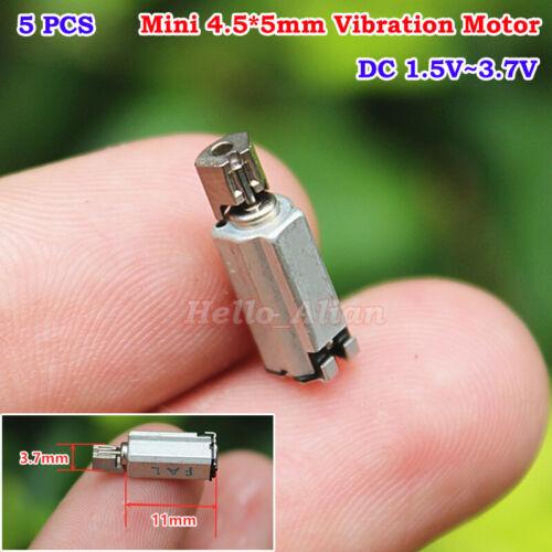 5PCS DC 3V 3.7V Micro 5mm Vibrator Vibrating SMD Vibration Motor DIY Cell Phone