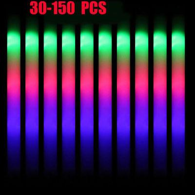 LED Light Up Foam Sticks Wands DJ Flashing Glow Stick For Wedding Party Lots US (Glow Stick Wands)