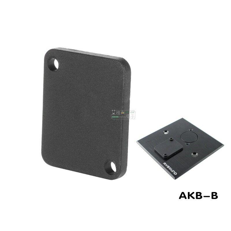 2Pcs 86 panel D-type XLR blank plate dust-proof filler module black AKB-A-B HiFi