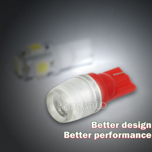 10pcs High Power 1W T10 Wedge  LED Red Car Interior LED Bulbs 12V 192 194