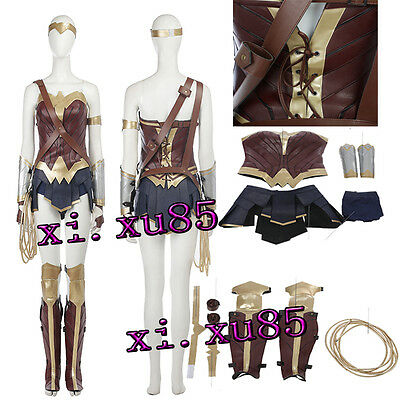 Hot Cakes Wonder Woman Cosplay Costume Outfit Hallowmas Custom made Full Set