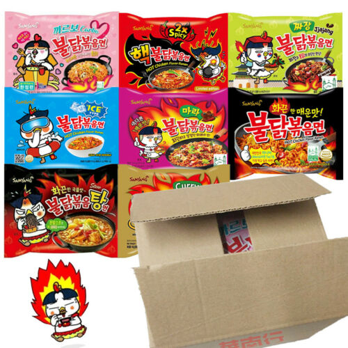 Samyang Hot Chicken Spicy Challenge Ramen Noodle Assorted Mix Box (5 Flavor)