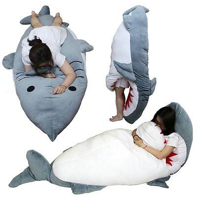 Giant Huge Shark Stuffed Plush Dakimakura Hugging Body Pillow Sleeping Bag Gifts](Shark Sleeping Bag)