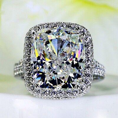 Handmade Women 10ct Diamonique Cz 14KT White Gold  Filled Wedding Band Ring (14kt Gold Handmade Ring)