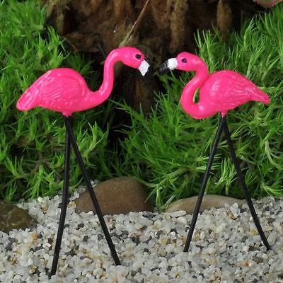 Retro Flamingo Pair  Miniature Fairy Faerie ...