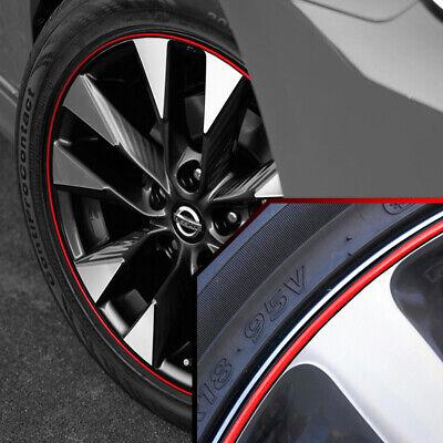 Wheel Bands Red in Black Pinstripe Rim Edge Trim For Nissan Rogue (Full Kit)