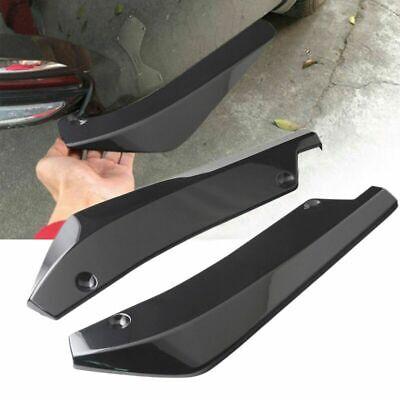 2pcs glänzend ABS schwarz Anti-Scratch Auto Heckstoßstange Lip Diffusor Splitter