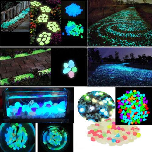 100x glow in the dark stone pebbles rock garden walkway. Black Bedroom Furniture Sets. Home Design Ideas