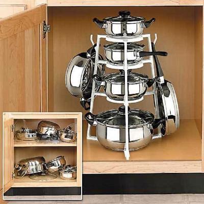 Holder Shelf Rack Kitchen Pot Cookware Turret Estante Rangement Cuisine Organize, usado segunda mano  Embacar hacia Mexico