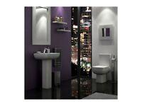 +SALE+ K-Vit Options 600 Toilet & Full Pedestal Basin Package