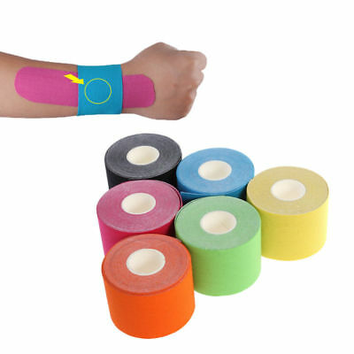6 Farbe Elastisches Kinesiologie Tape Kinesiology Sport Physiotape Tapes 5cm*5cm