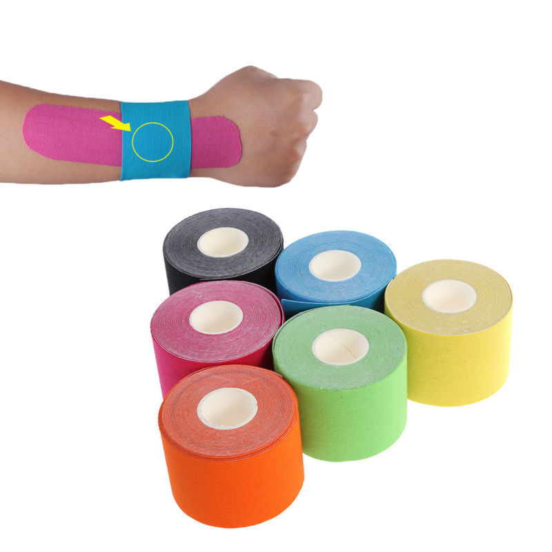 6 Farbe Elastisches Kinesiologie Tape Kinesiology Sport Physiotape Tapes 5cm*5m 0