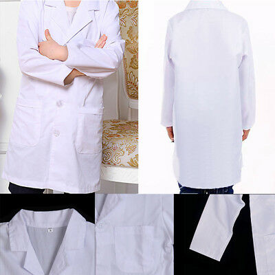 Kids Doctor Coat (Kids White Coat Lab Doctor Hospital Scientist School Fancy Dress Cosplay)