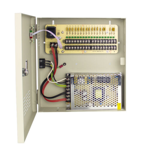 18 CH Channel POWER SUPPLY Switch Distribution Box DC 12V 20AMP DVR CCTV Camera