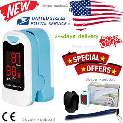 Finger Oximeter - US seller Finger Pulse Oximeter Blood Oxygen Sensor O2 SpO2 Monitor Heart Rate