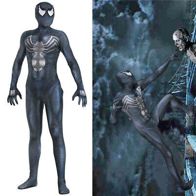 Venom Symbiote Spider-Man Jumpsuit Men Cosplay Costume Zentai Spandex Bodysuit
