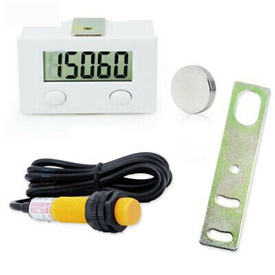 5 Digit Digital Punch Electronic Counter Magnetic Inductive Proximity Switch Lcd