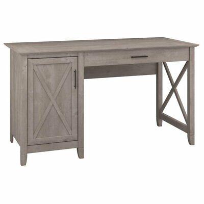 Bush Furniture Key West Collection 54W Single Pedestal Desk