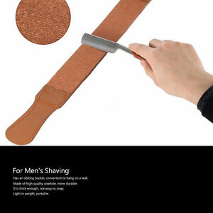 Leather strop for straight razor sharpening and other razors etc