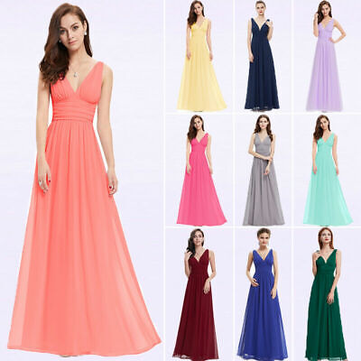 0004d8c5f3fe Ever-Pretty US Long Chiffon Bridesmaid Dresses Formal Evening Prom Gown  09016