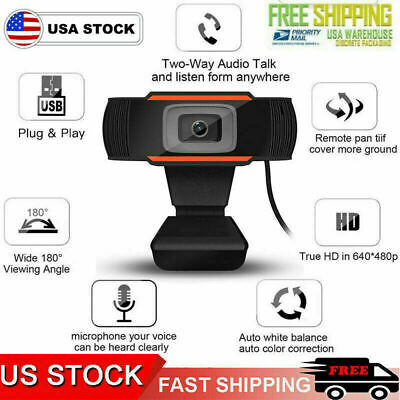 Webcam Auto Focusing Web Camera HD Cam with Microphone For PC Laptop Desktop US