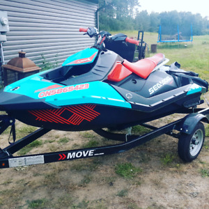 17 Seadoo Trixx 2up 90hp ONLY 10 hrs Immaculate shape cover+trai