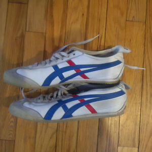 Men's Onitsuka Tiger Mexico 66 White/Blue/Red Size 11