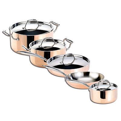 Topfset Kupfer: Kupfer-Töpfe und Kupfer-Pfanne, 5-teilig (Kupfer