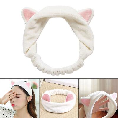 Women Elastic Velvet Headband Cute Cat Ear Hair Band Cosmetic Hair Bunching Tool