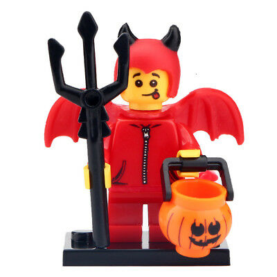 Halloween Devil Costume - Trick or Treat Lego DYI Minifigure Gift For Kids  - Halloween Devil Costume For Kids