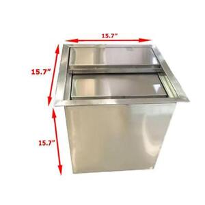 Stainless Steel Ice Bin with Lid 220175