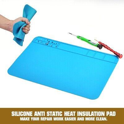 Silicone Anti Static Heat Insulation Pad Soldering Repair Maintenance Mats New