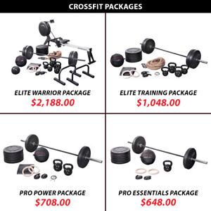 Barbell Weight Olympic Plate Kettlebell Crossfit Packag