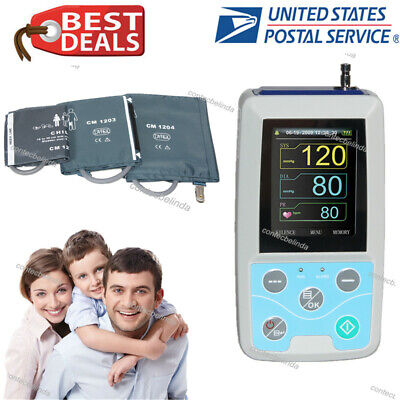 Ce Fda Handheld 24hours Ambulatory Blood Pressure Monitor With 3 Cuffs Newest Us