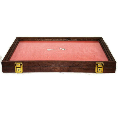 Wooden case, Glass Top, Collectibles or Valuables Display Case