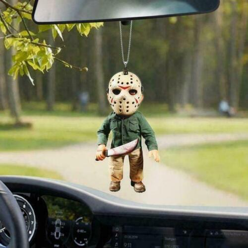 Horror Jason Voorhees Halloween Gift For Family Plastic Car Hanging Ornament