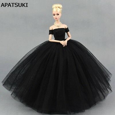 Black Little Dress Wedding Dress for Barbie Doll Dresses Clothes for Barbie Doll