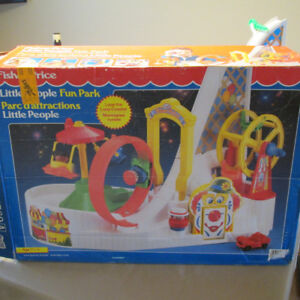 1994 FISHER PRICE LITTLE PEOPLE PARC D'ATTRACTIONS C2560 +BOITE*