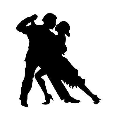 Tango - Aufkleber - Tattoo Folie Auto KFZ Tanzen Turniertanz Sport ballroom Paar