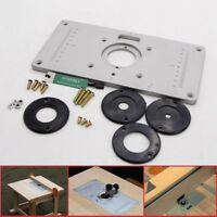 Manufacturing woodworking prices on daasy 235x120x8mm aluminium alloy plunge router table insert plate ring woodworking uk sundely ebay keyboard keysfo Choice Image