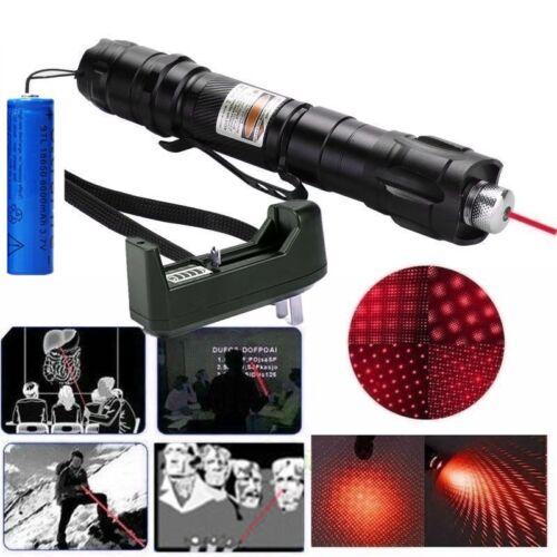 20Miles Red Laser Pointer Pen 650nm Belt clip Pet Toy Star Pattern+Batt+Charger