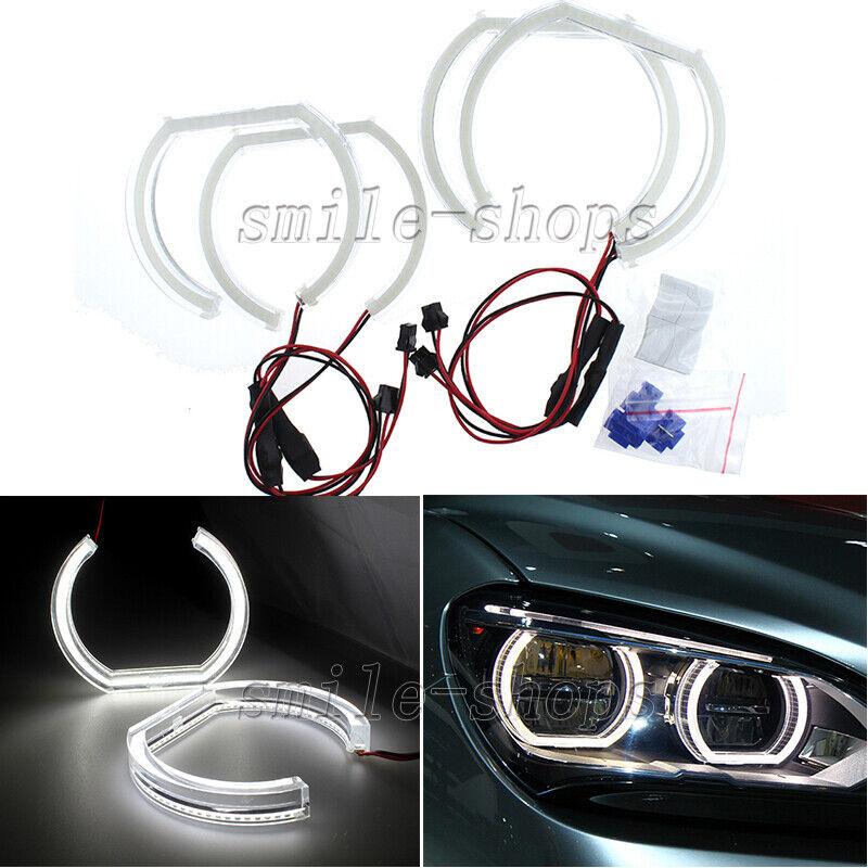 4pcs Amber White Crystal DTM Style LED Angel Eyes Halo Rings For BMW E92 E90