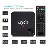 MX3 MXIII Gigabit Quad Core S812 2GB Android TV BOX 4K Kodi