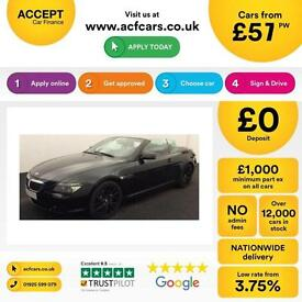 BMW 650 4.8 auto 2007MY i Sport FROM £57 PER WEEK!